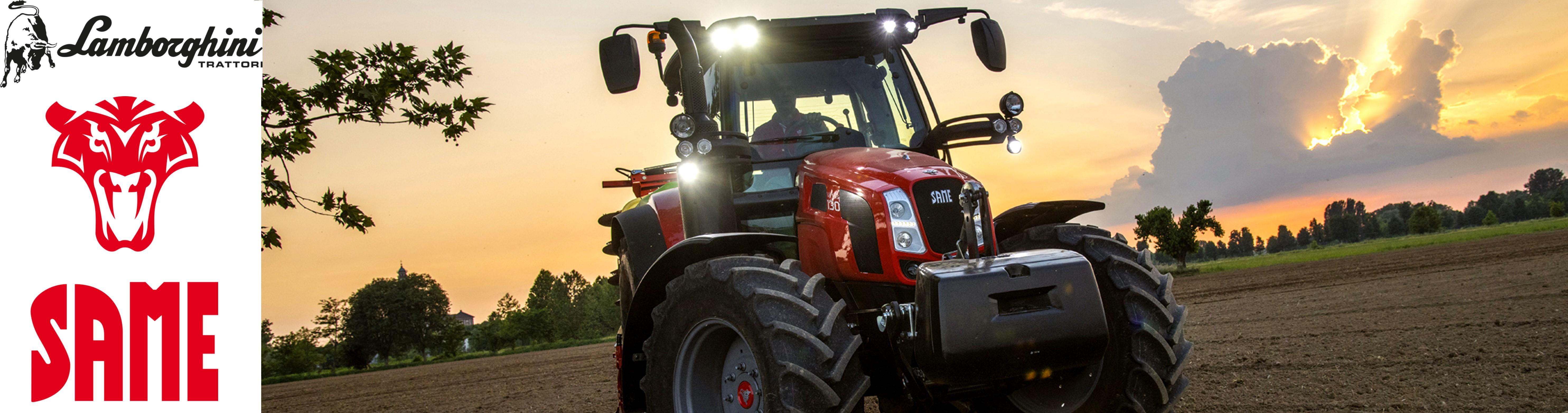 Same Traktor im Sonnenuntergang abgelichtet